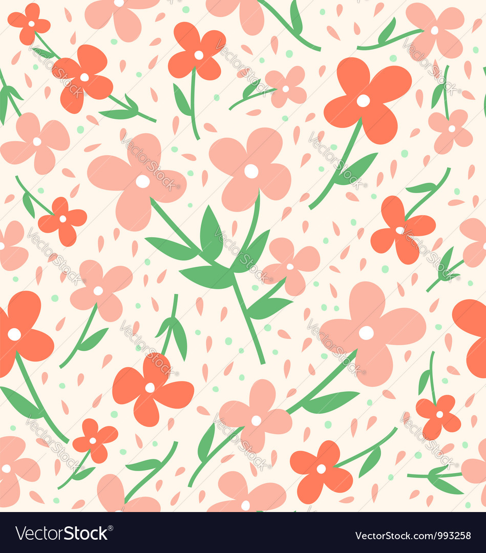 Seamless Flower Pattern Royalty Free Vector Image