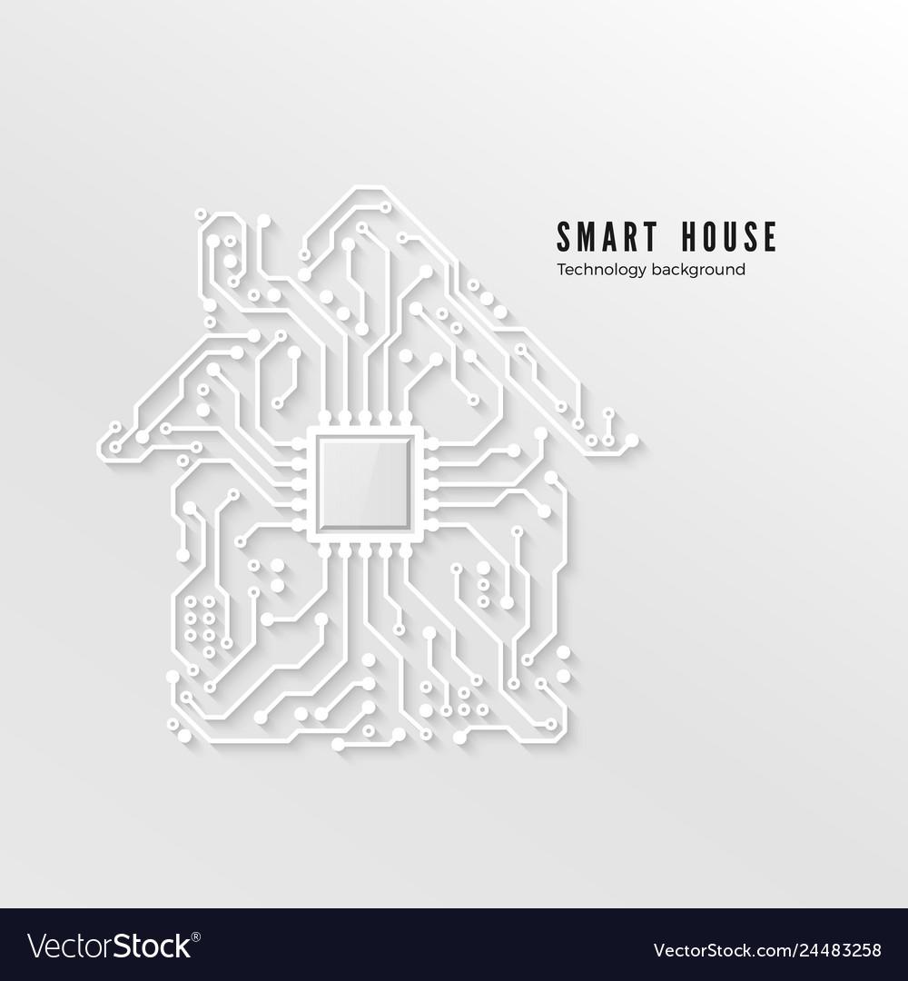 Smart home technology background smart house