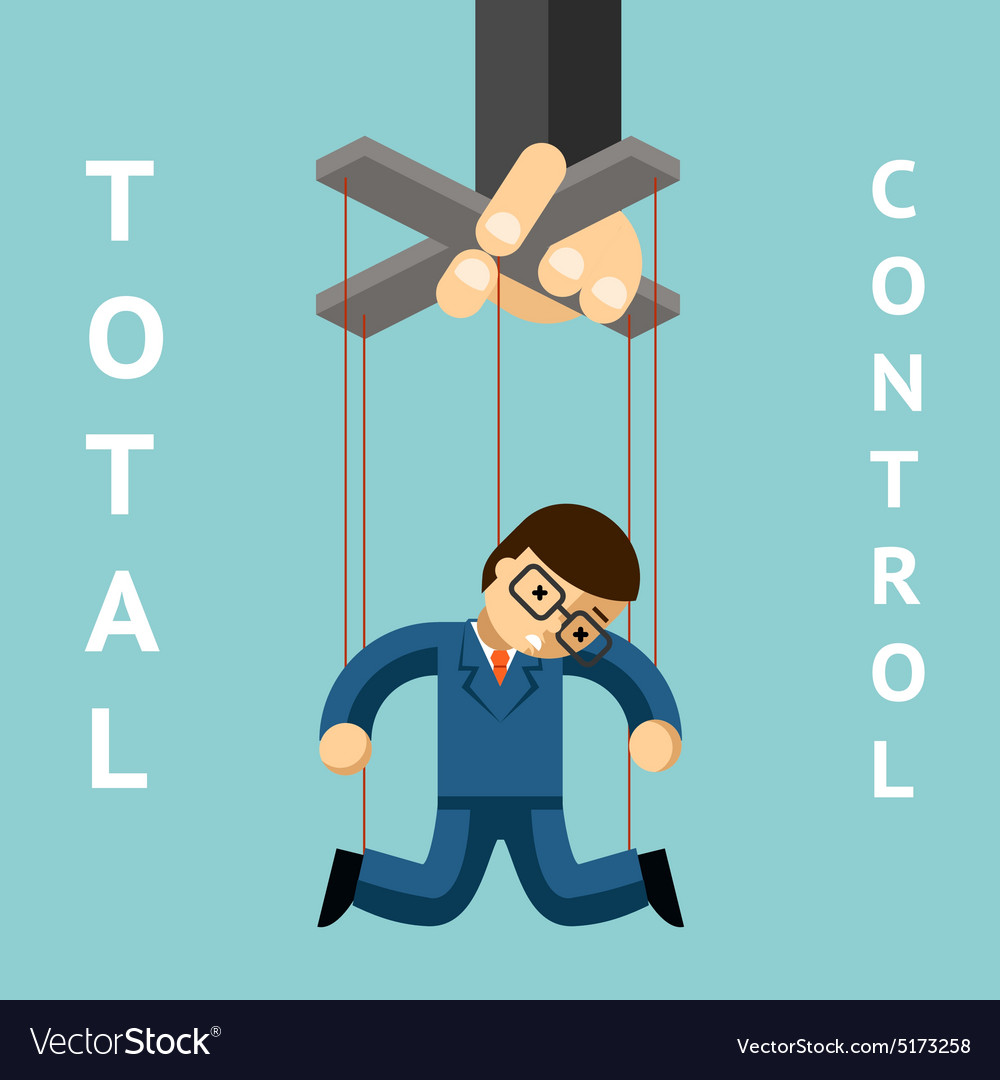 Total control Businessman puppet