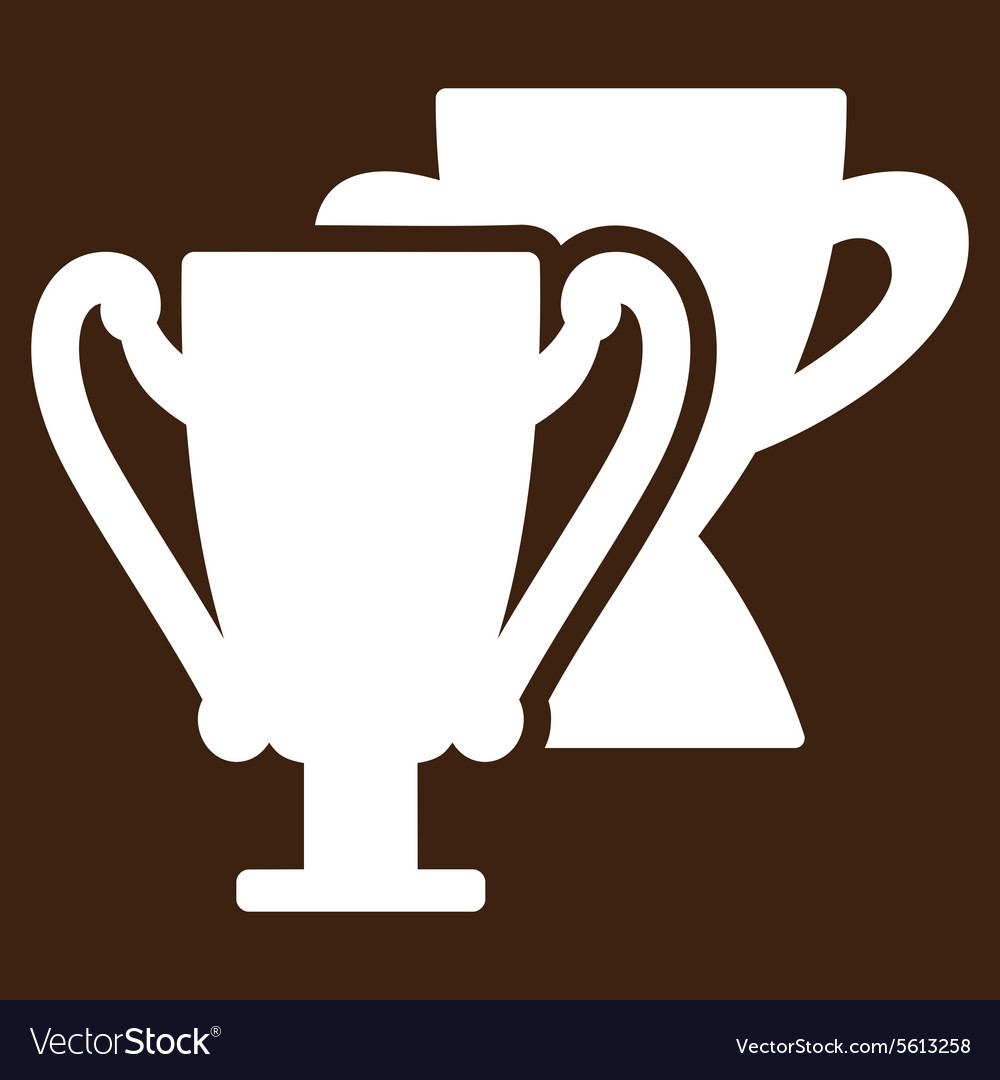 Trophy cups icon from Competition Success vector image
