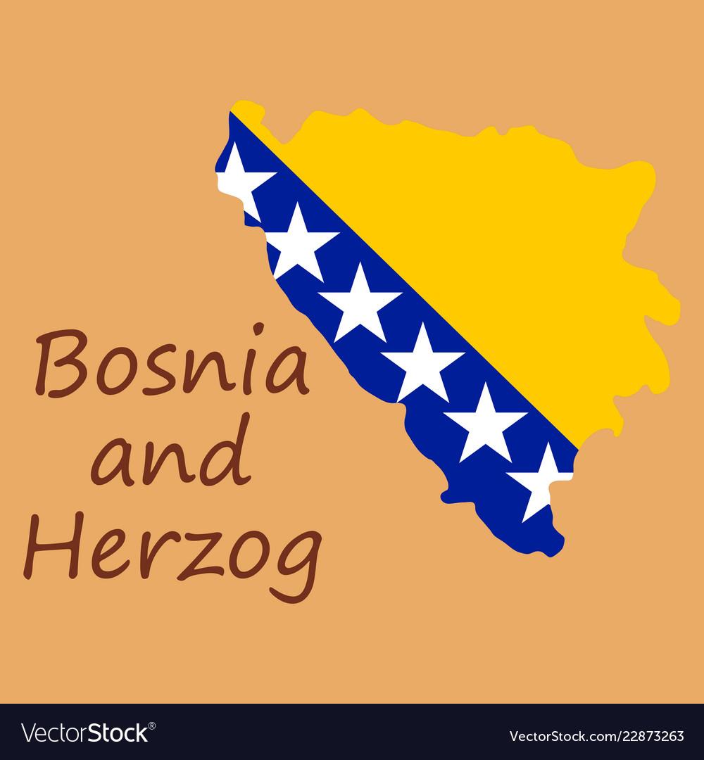 Bosnia and herzegovina political map with capital