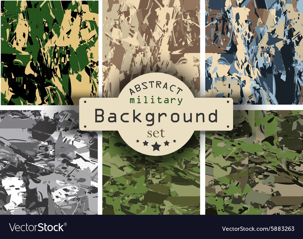 Camouflage military background set