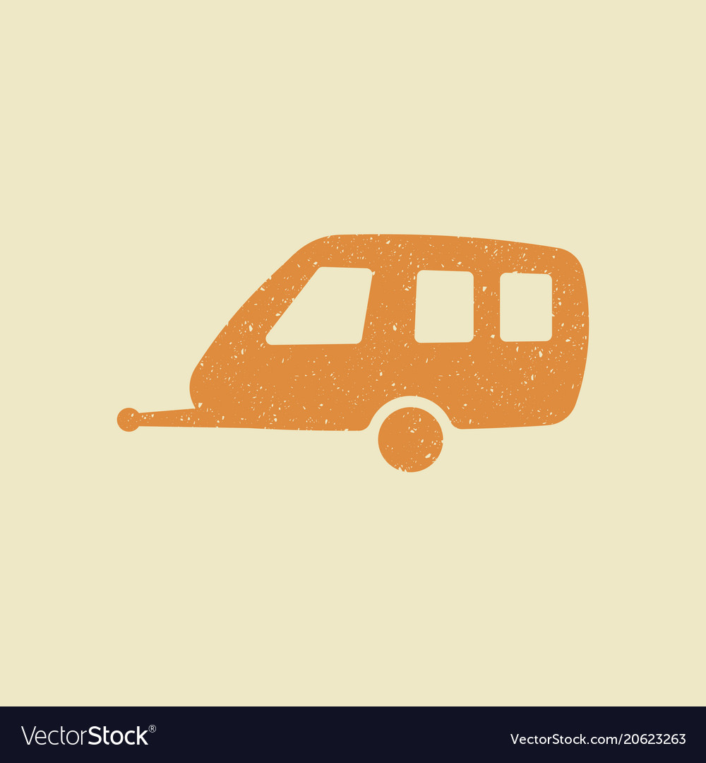 Car trailer icon