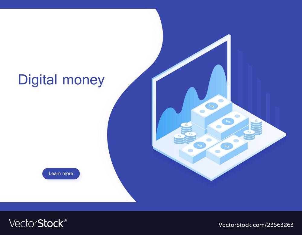 Concept digital marketing digital money analyze
