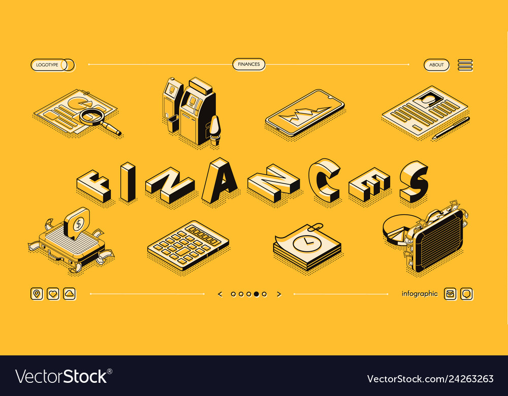 Financial statement service isometric site