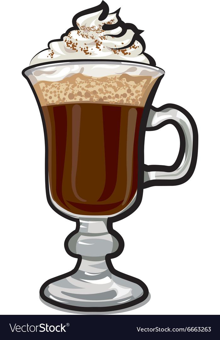 Irish coffee vector image