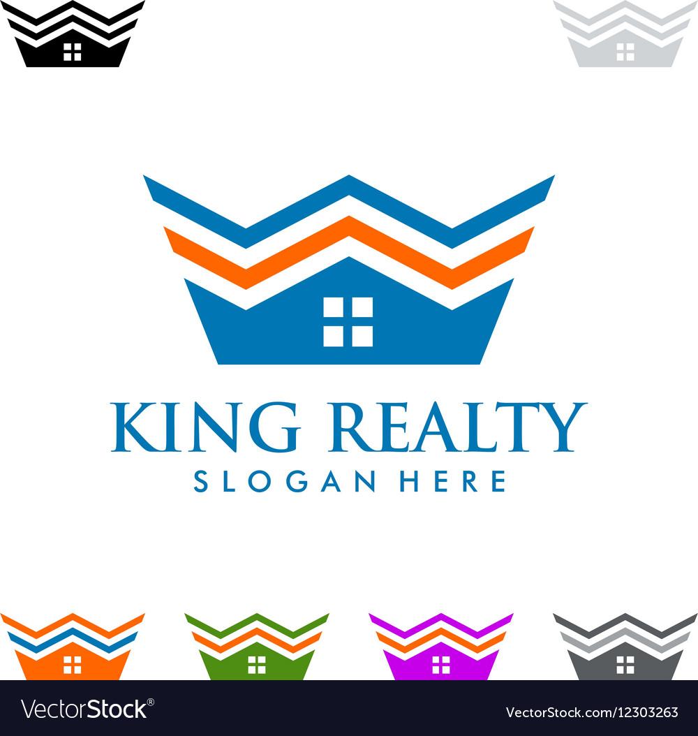 King estate Real estate logo design