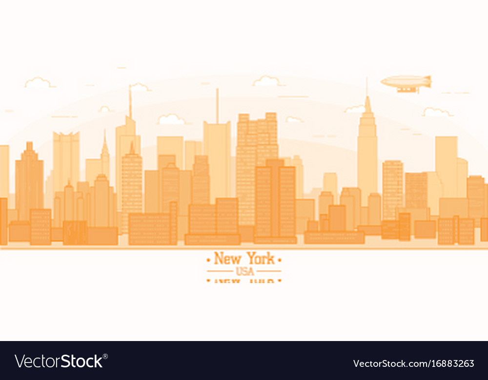 New york city banner panorama buildings landmarks