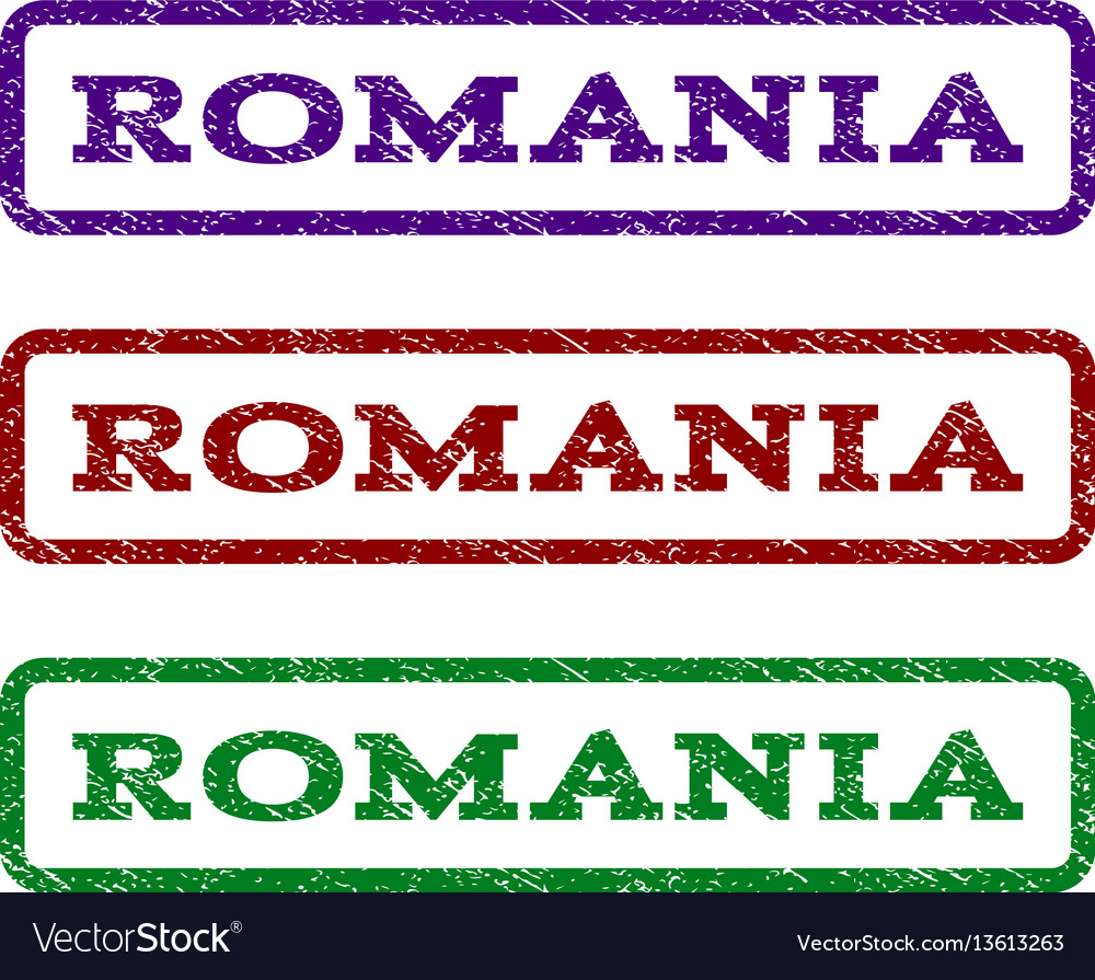 Romania watermark stamp vector image