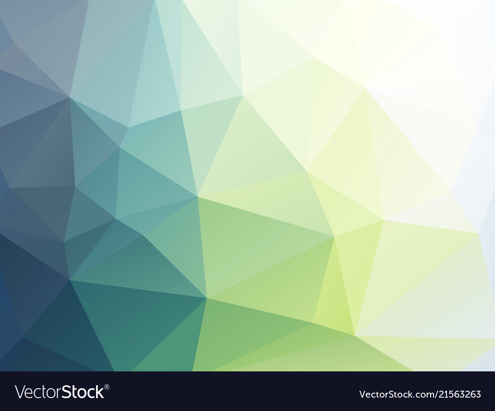 Soft Green Triangular Geometric Wallpaper Vector Image