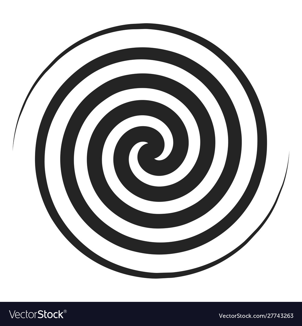 Spiral black icon geometric twirl and rotation