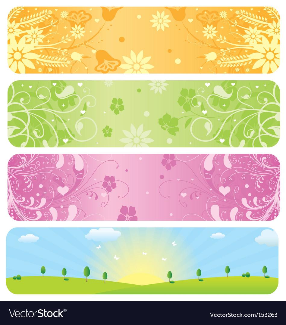 Website banners vector image