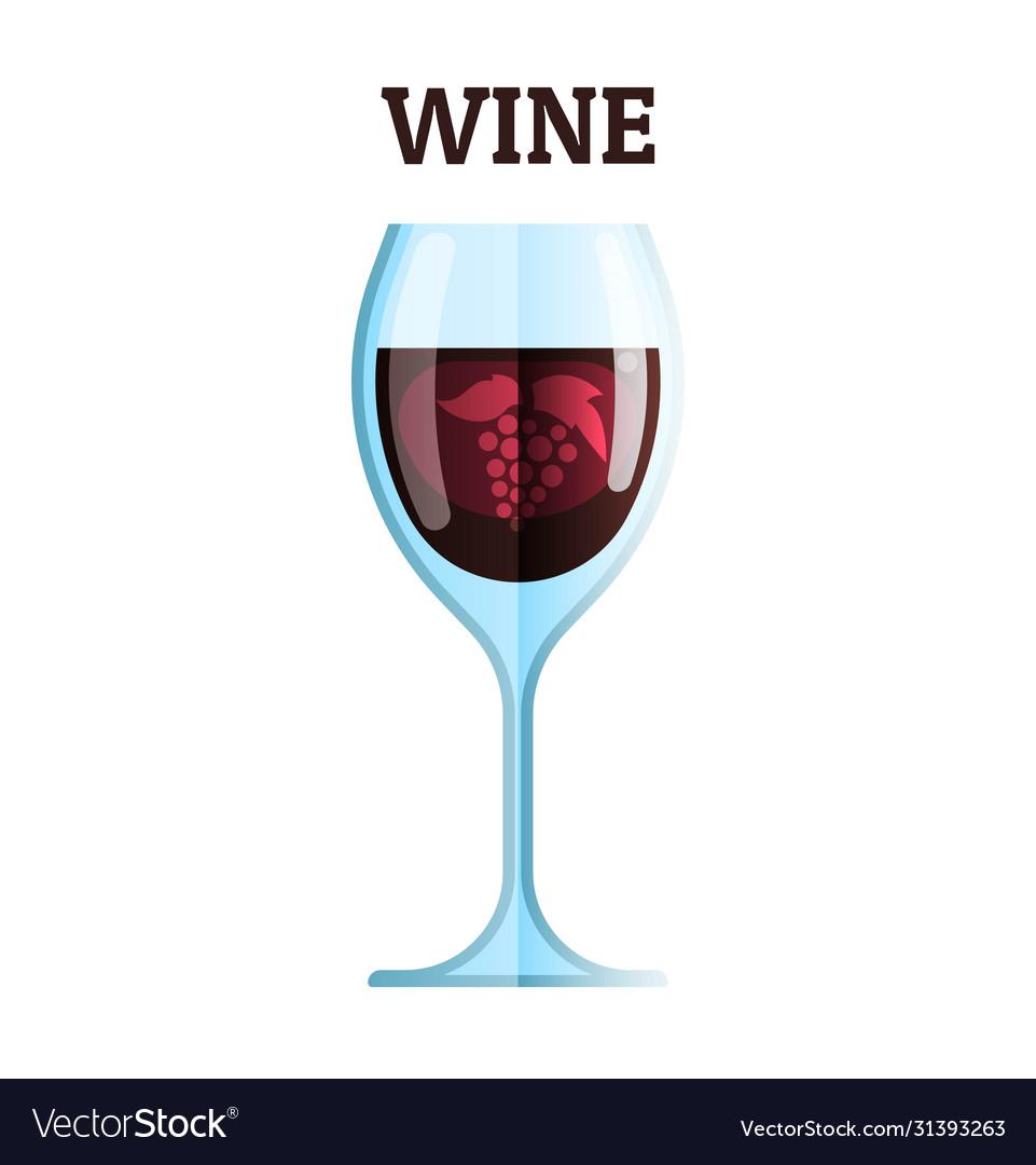 Wine glass icon modern minimal flat design