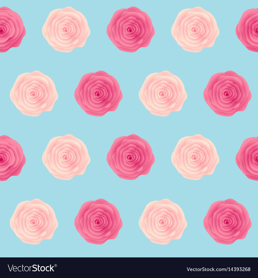 Cute rose flower seamless pattern background