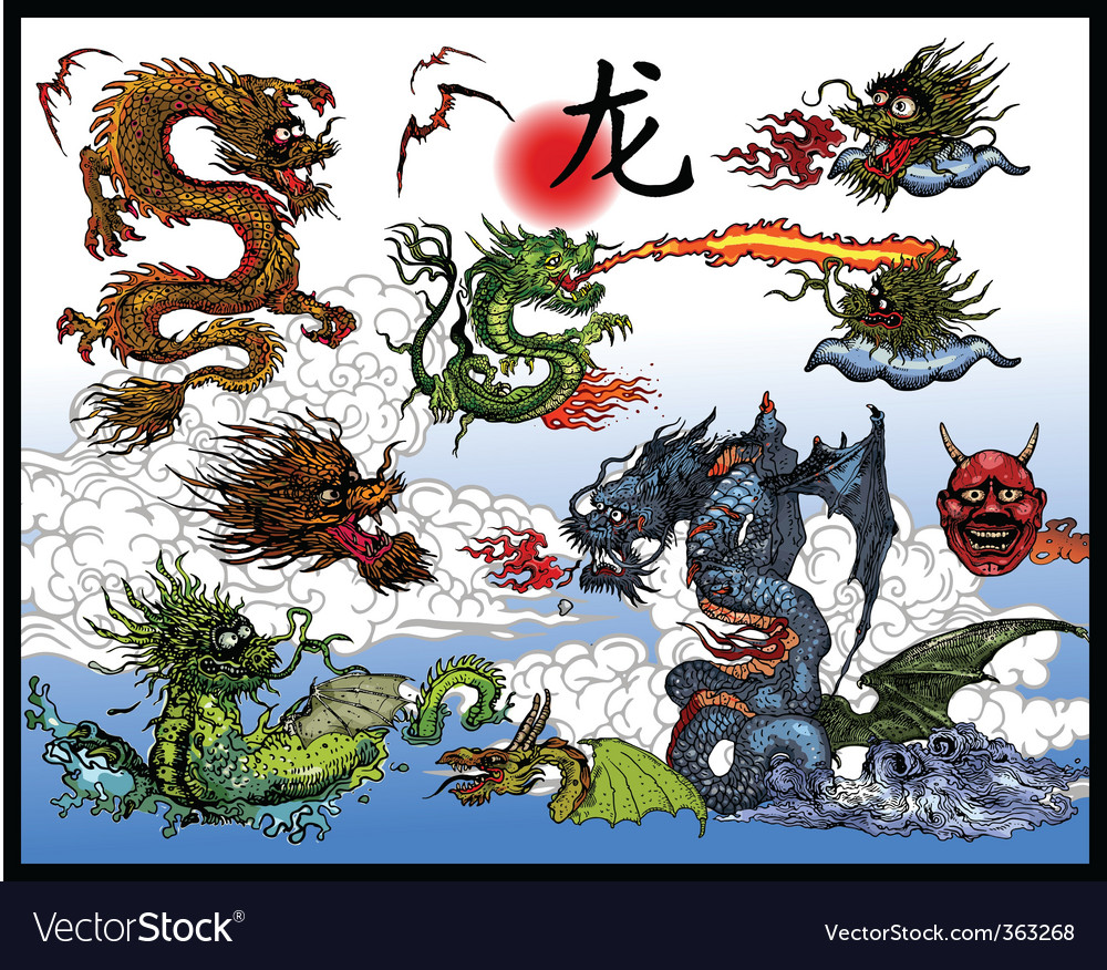 East Asian dragons
