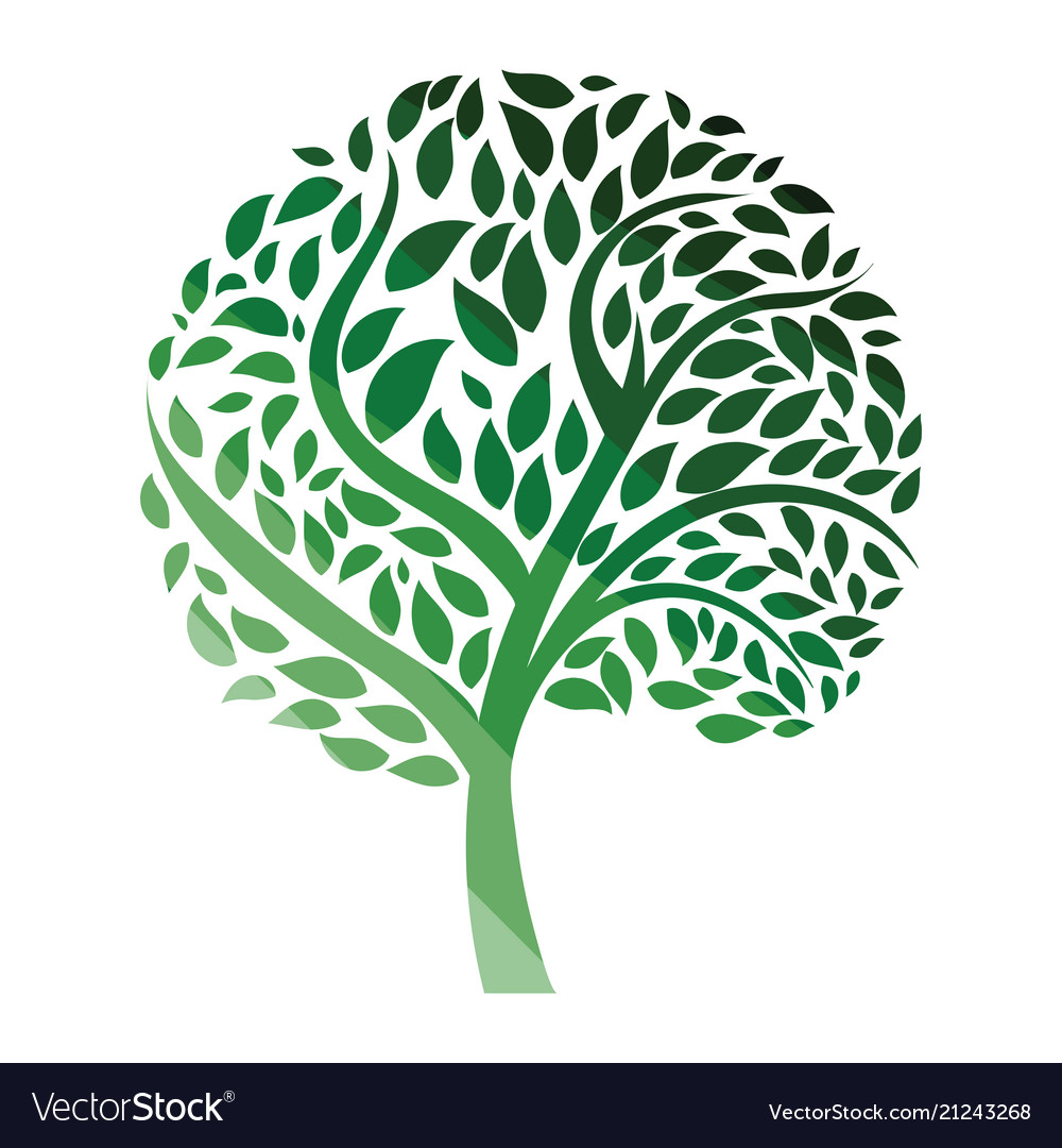 Ecological tree leaves icon