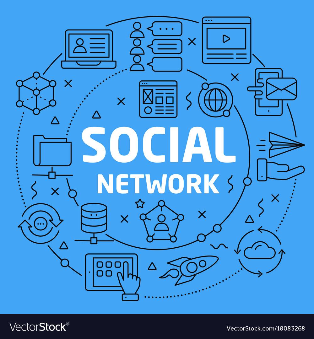 Linear social network