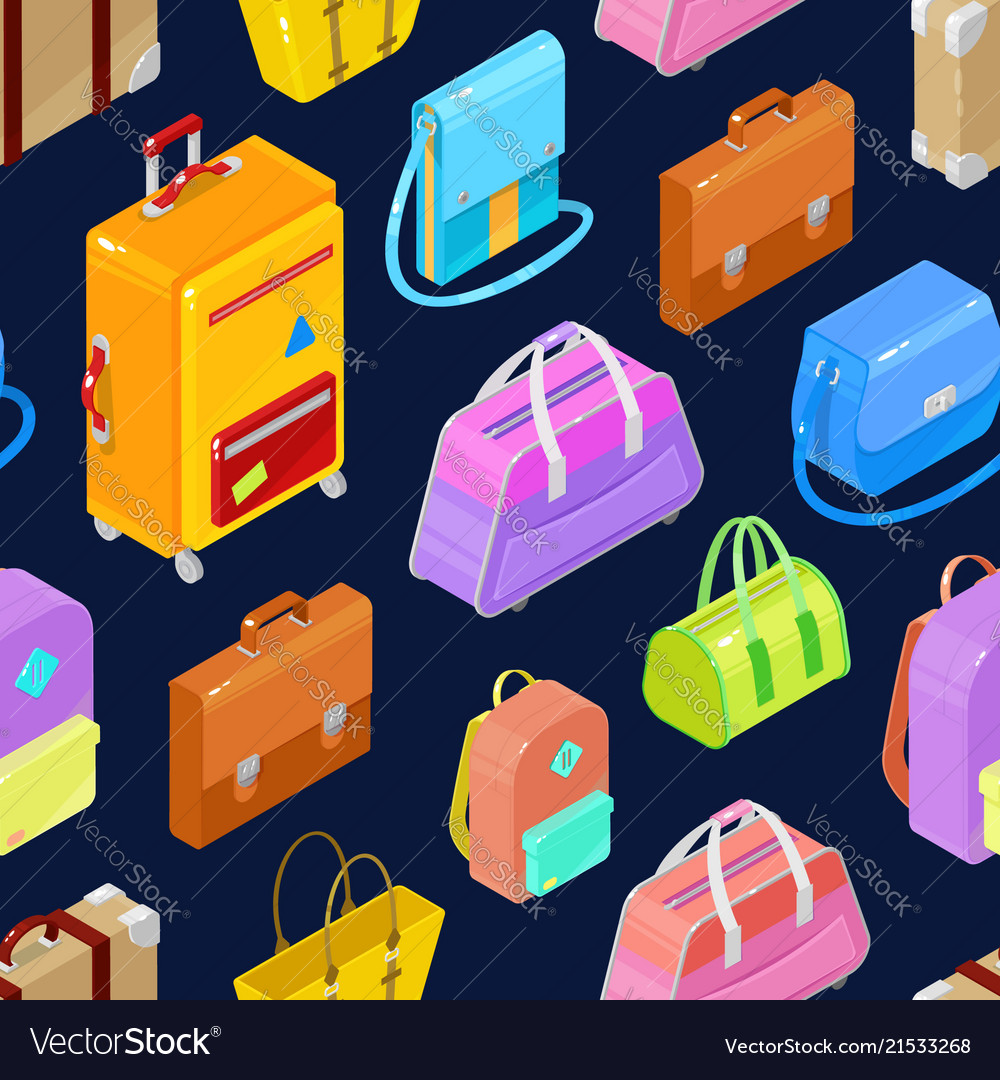Pattern of colorful isometric bags