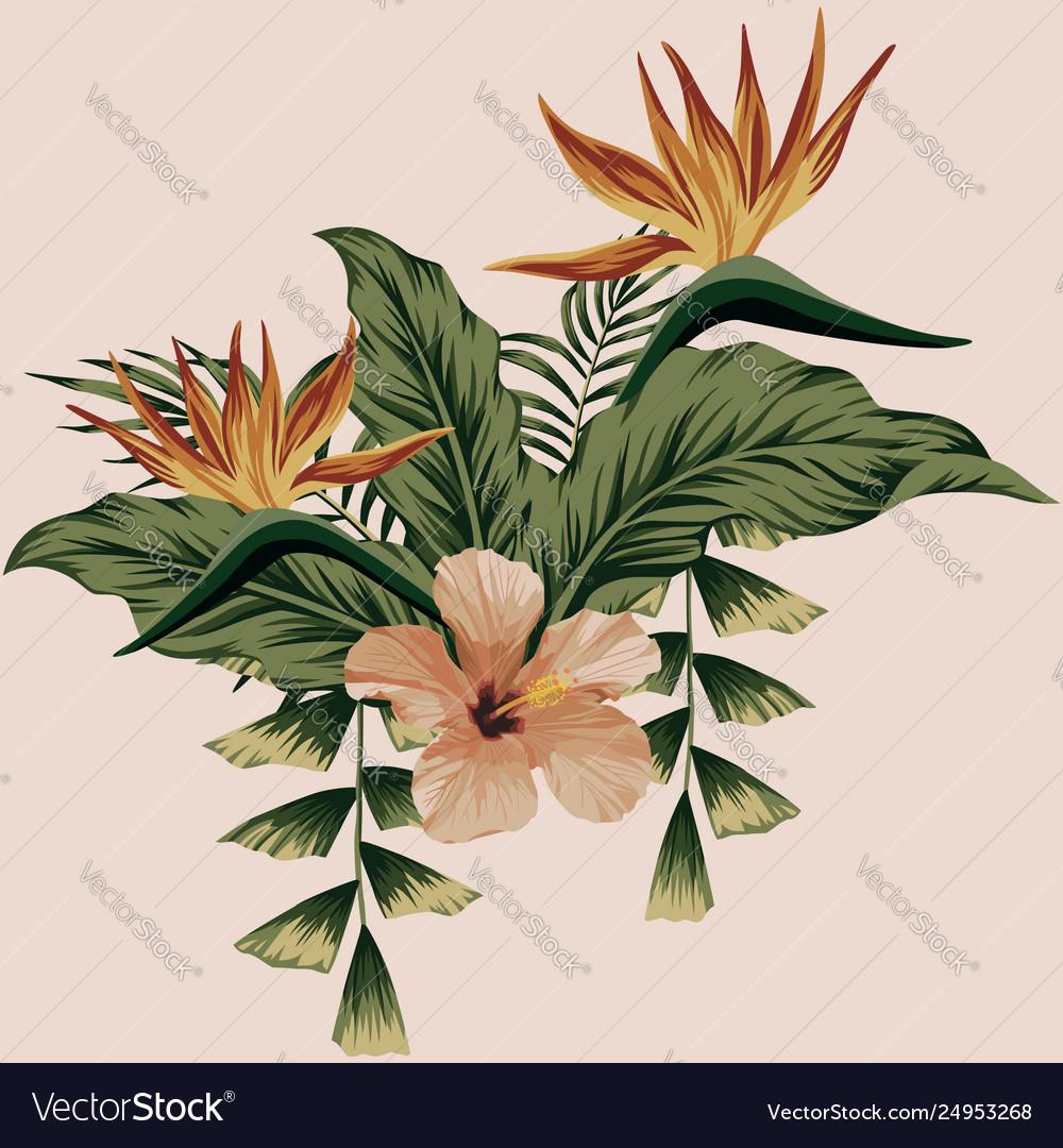 Summer floral composition botanical print