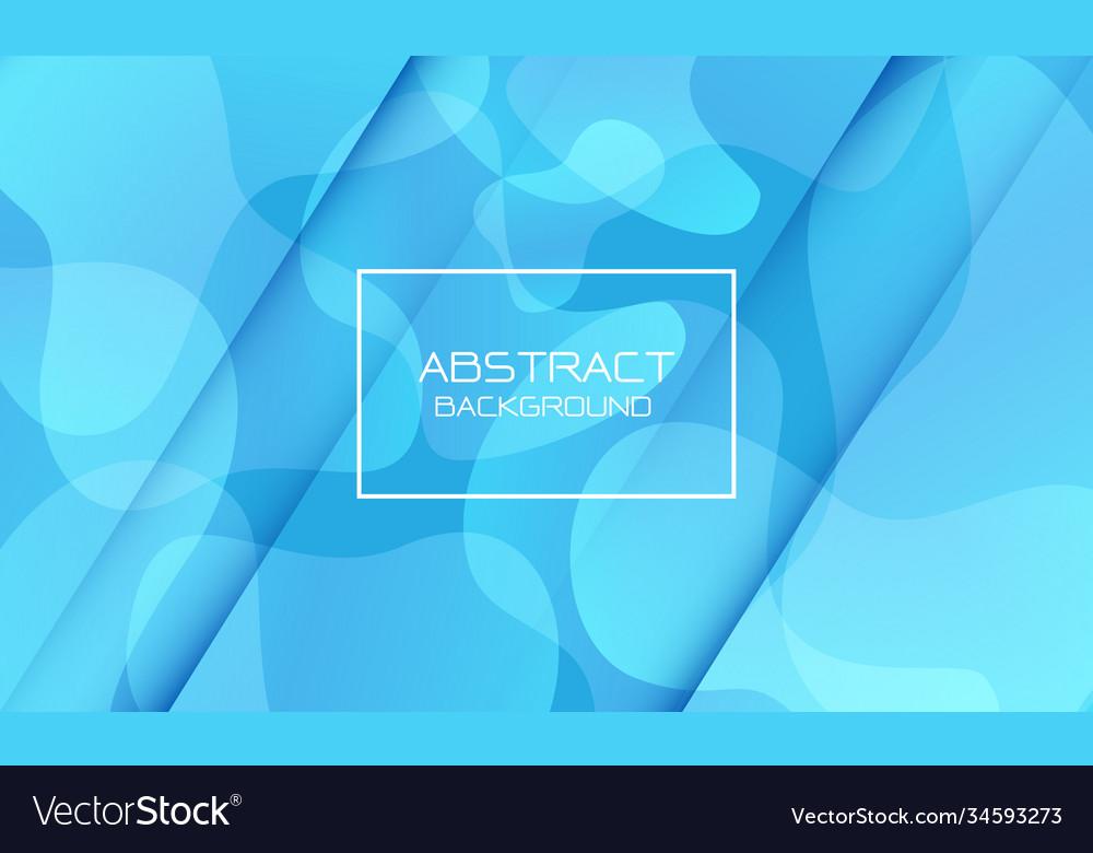 Abstract blue tone geometric curve shape white