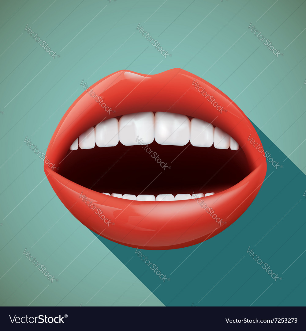 Human mouth Stock