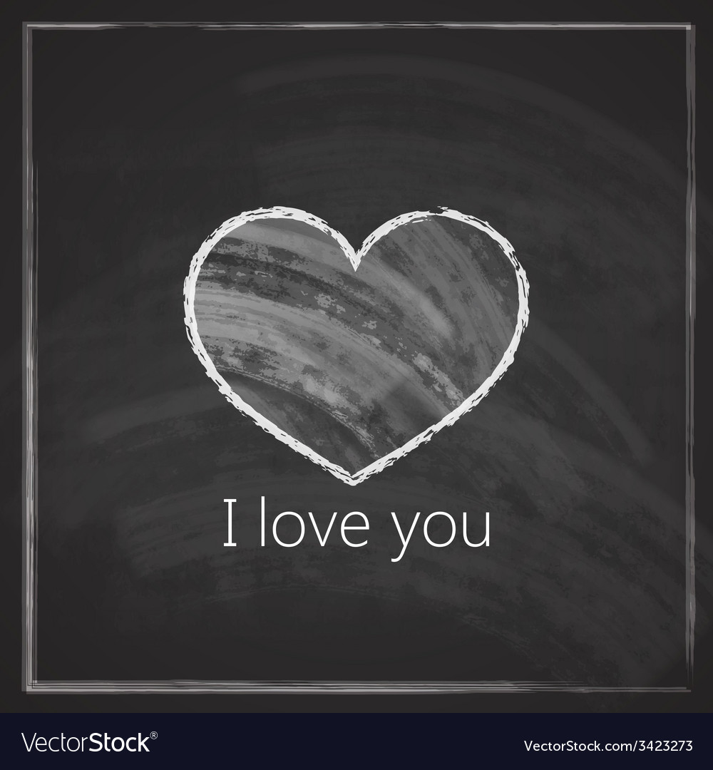 I love you abstract vintage background with