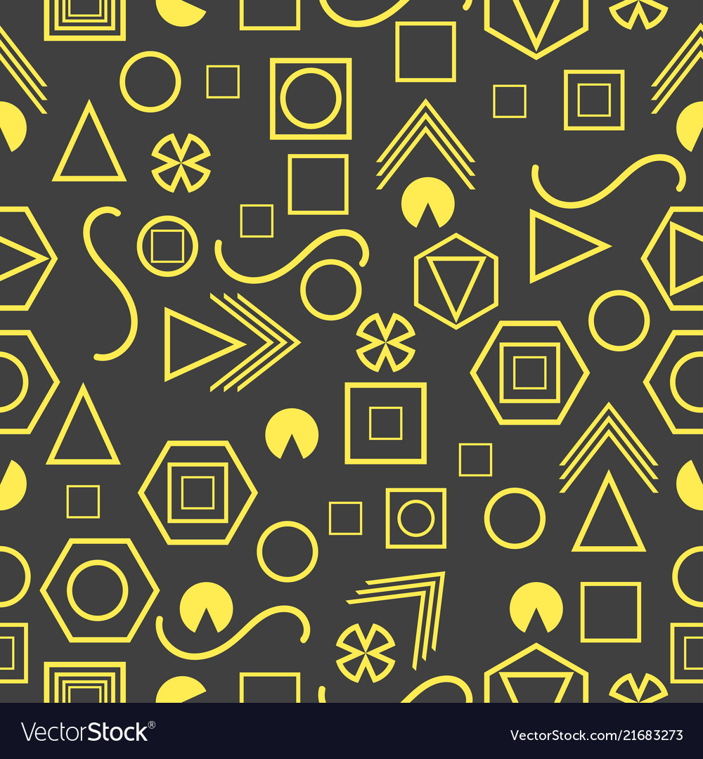 Seamless pattern with geometric figures in the