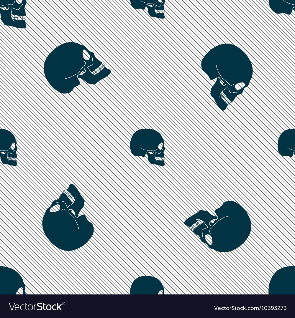 Skull sign Seamless pattern with geometric texture