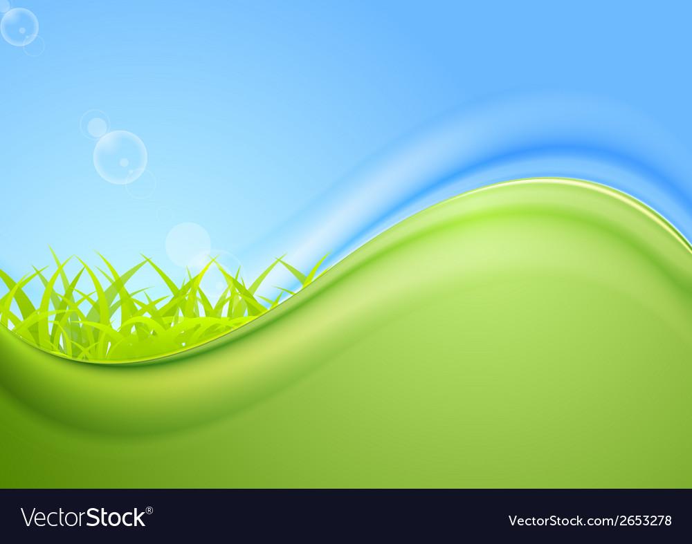 Bright summer wavy background vector image