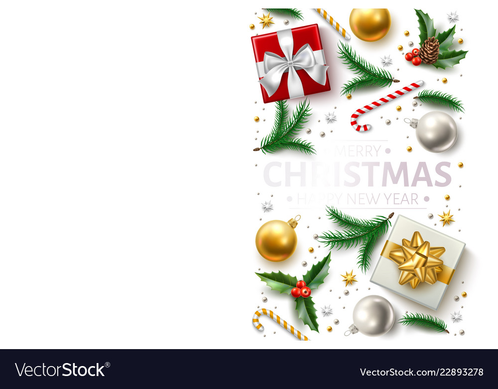 Christmas background holly spruce present a
