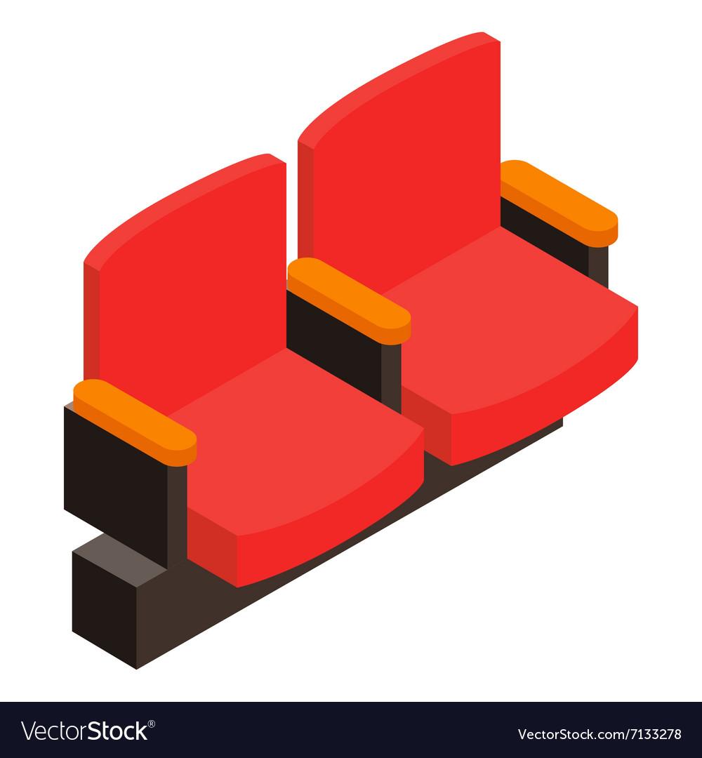 Cinema armchair 3D isometric icon