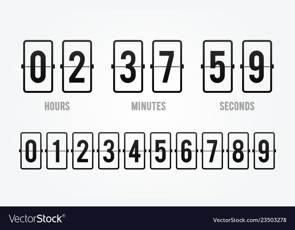 Flip board countdown clock counter timer