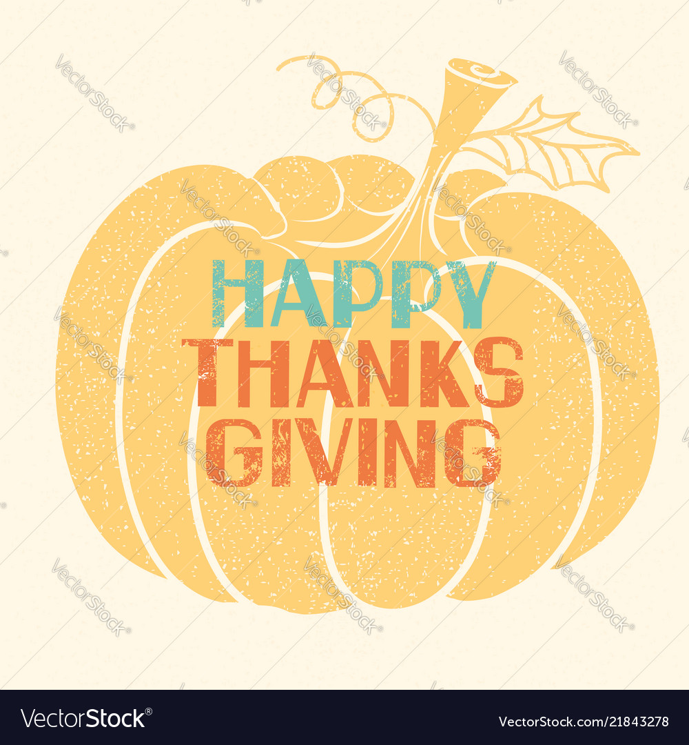 Happy thanksgiving card with lettering decoration
