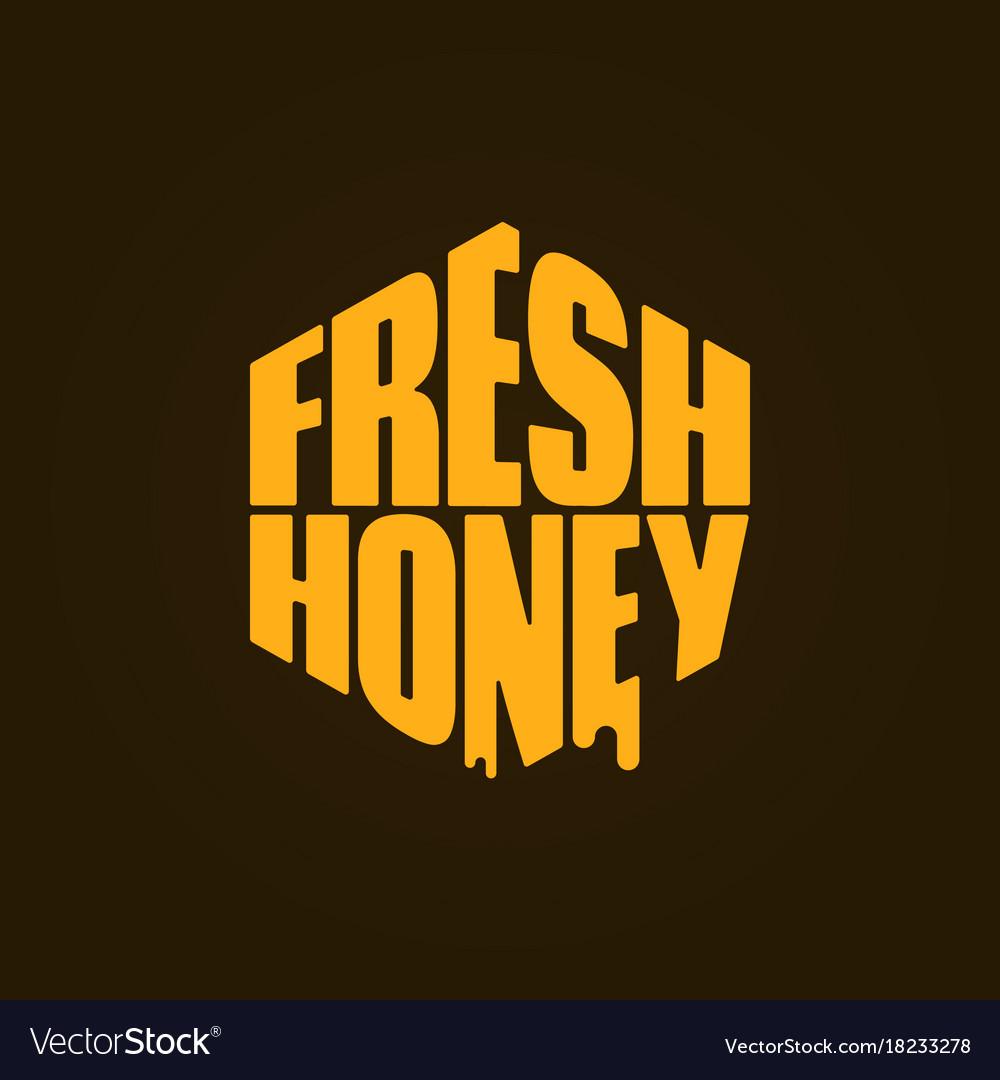Honey logo design fresh honey comp lettering vector image