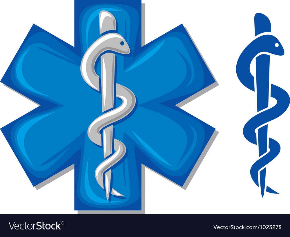 Medical Symbol Caduceus Snake Royalty Free Vector Image