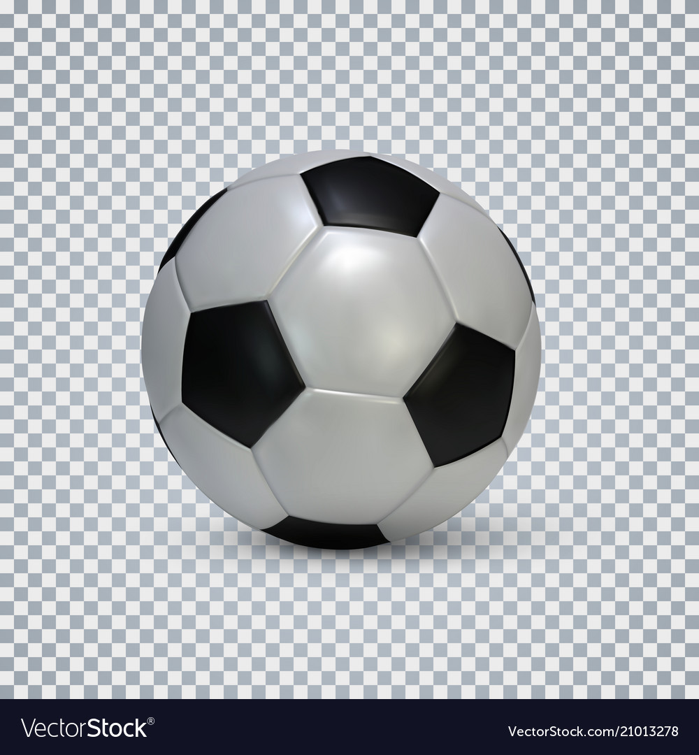 Soccer ball realistic football ball with shadow