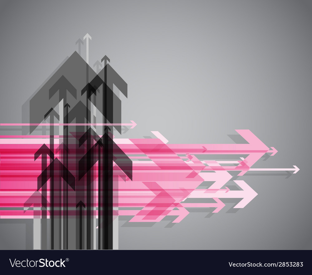Abstract background with colorful arrows
