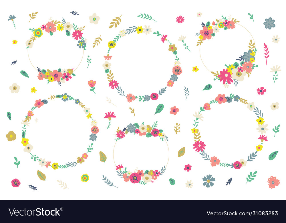 Flowers and wreaths for invitations