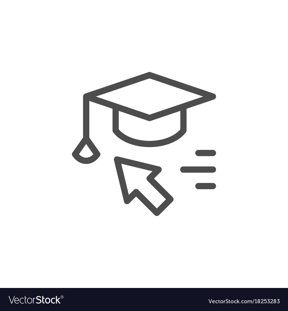 Online education line icon