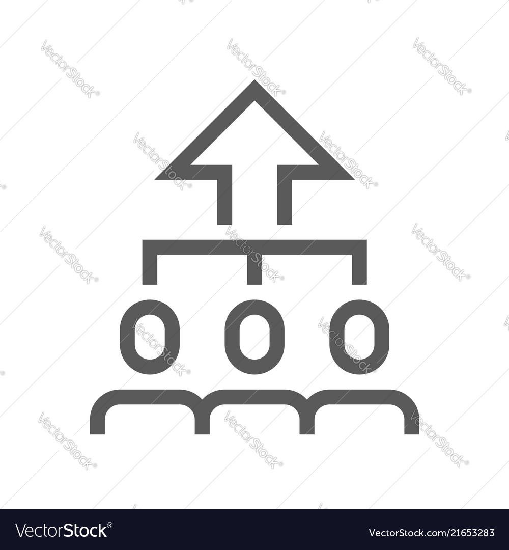 Productivity growth line icon