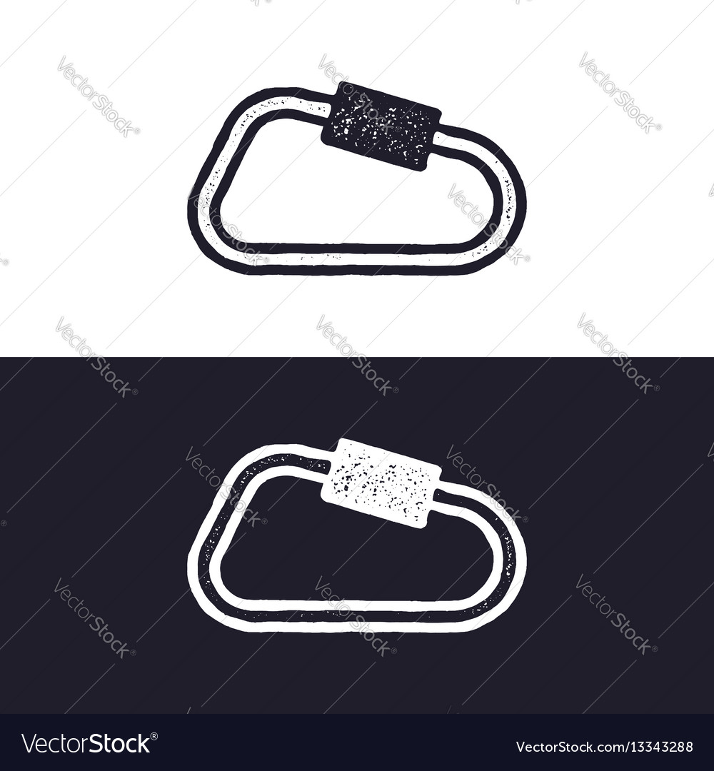 Carabiner icon isolated on white background
