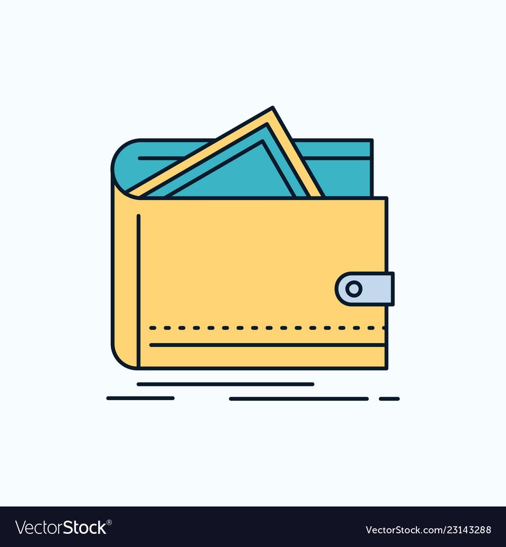 Cash finance money personal purse flat icon green