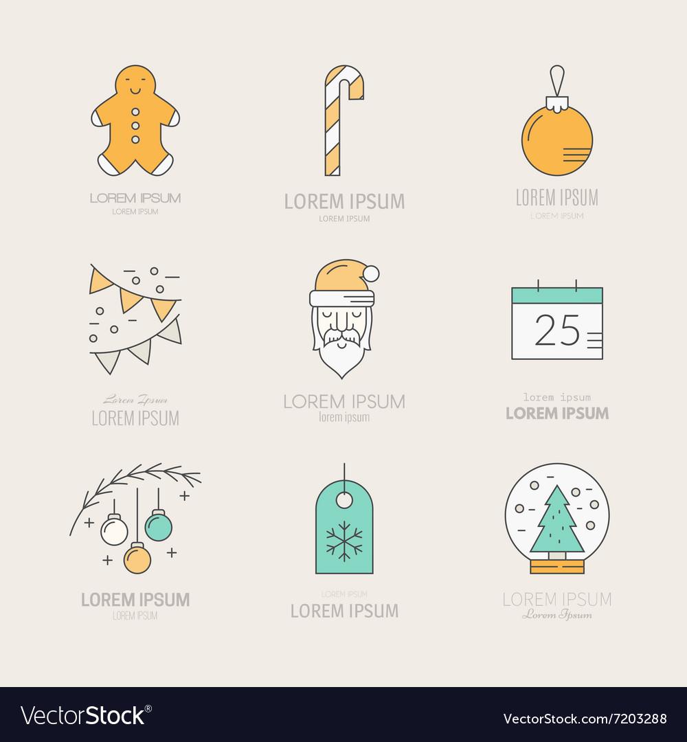 christmas logos vector image - Christmas Logos