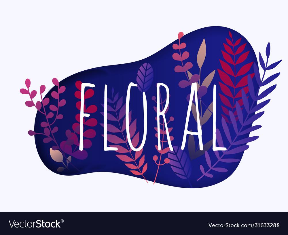 Floral elements hand drawn design elements
