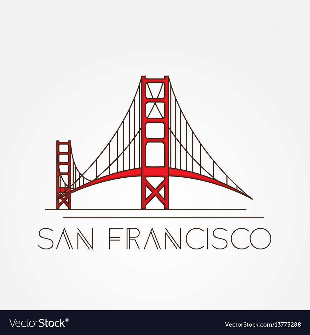Golden gate bridge - the symbol of us san