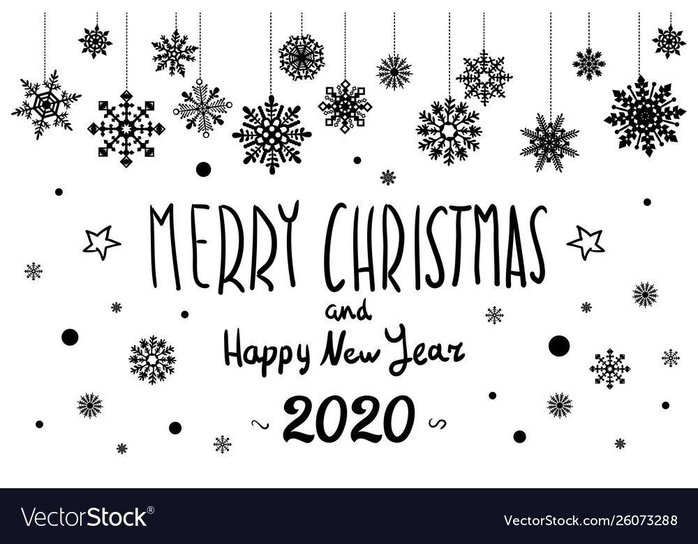 merry christmas and happy new year 2020 year vector image vectorstock