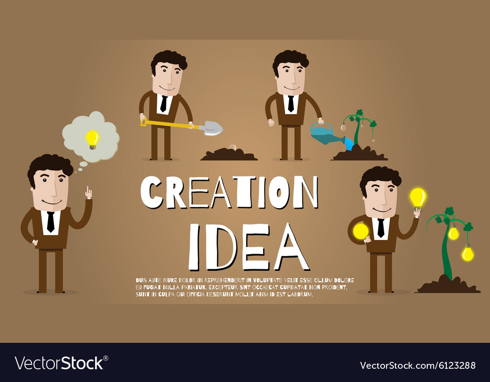 New idea vector image
