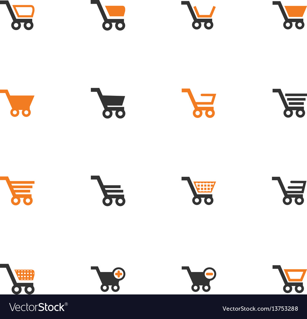 Shopping bascket icons set