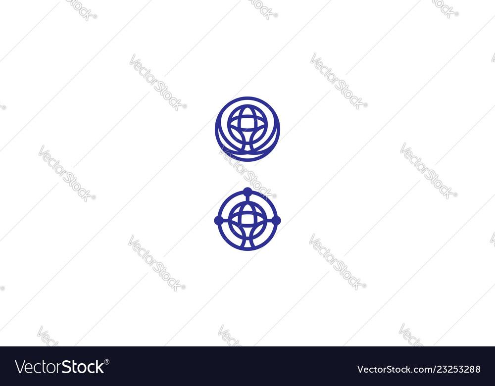 World communication logo icon