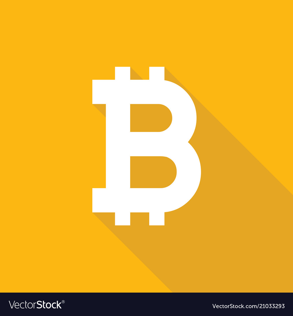 Bitcoin icon sign flat style